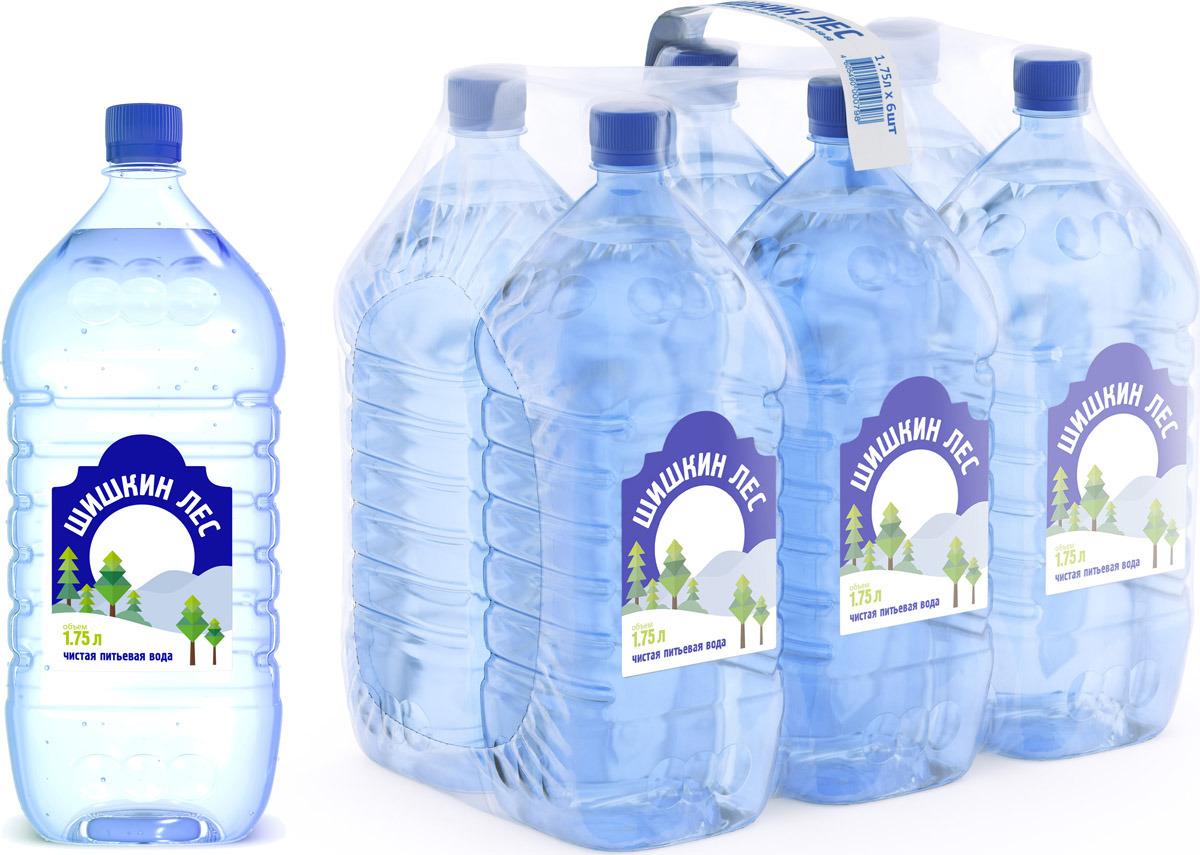 Шишкин лес Вода питьевая, 6 шт по 1.75 л вода сказочный лес питьевая детская 12 шт по 0 4 л