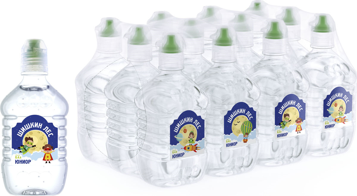 Вода Шишкин лес питьевая Junior, 12 шт по 0,4 л