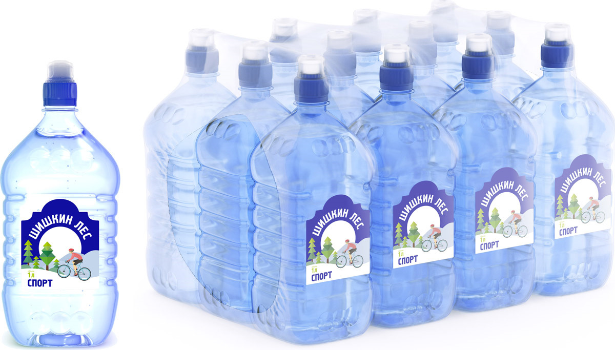 Вода питьевая Sport Шишкин лес, 12 шт по 1 л шишкин лес вода питьевая 1 л
