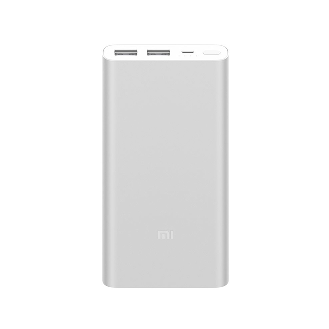 Зарядное устройство Xiaomi Power Bank 10000 мАч, серебристый портативное зарядное устройство xiaomi mi power bank 2s slim 10000mah серебристый