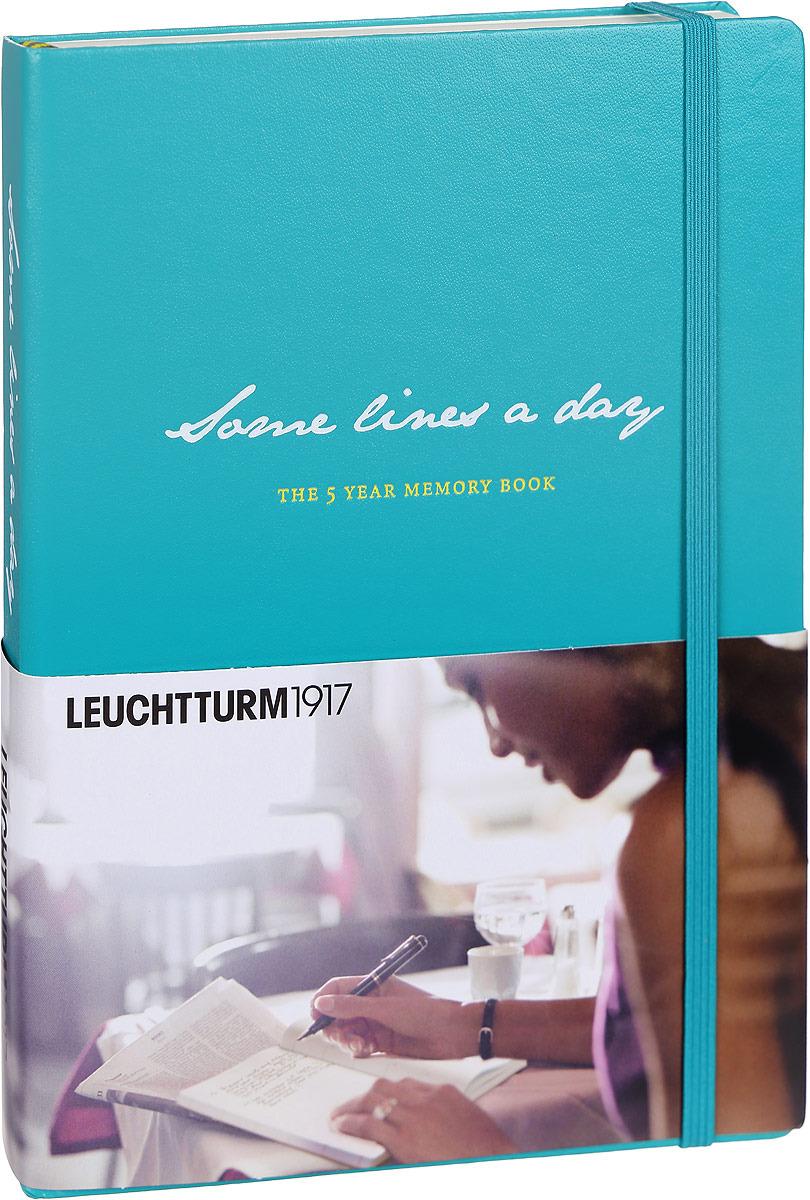 Дневник личныйLeuchtturm1917 Somes Lines A Day, зеленый, A5 (148 x 210 мм), в линейку, 183 листа