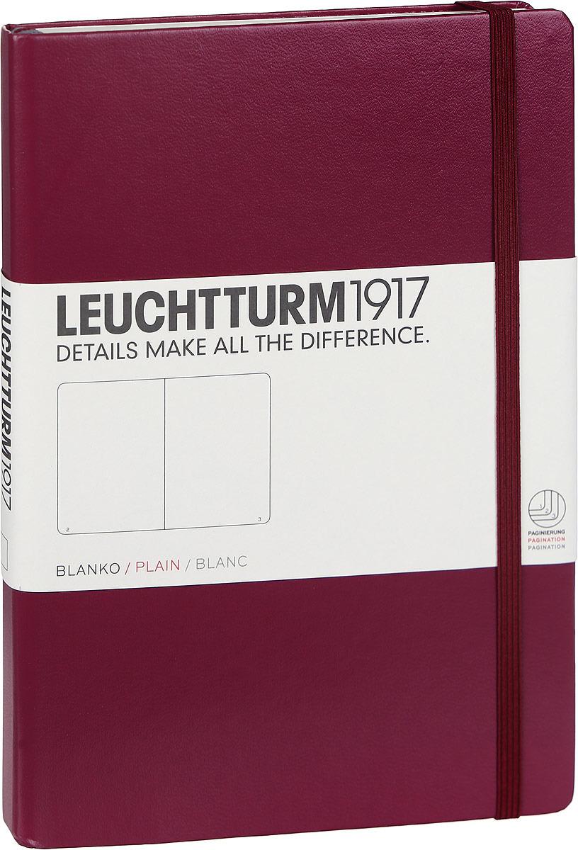 Записная книжка Leuchtturm1917, 359697, бордовый, A5 (148 x 210 мм), без разметки, 126 листов