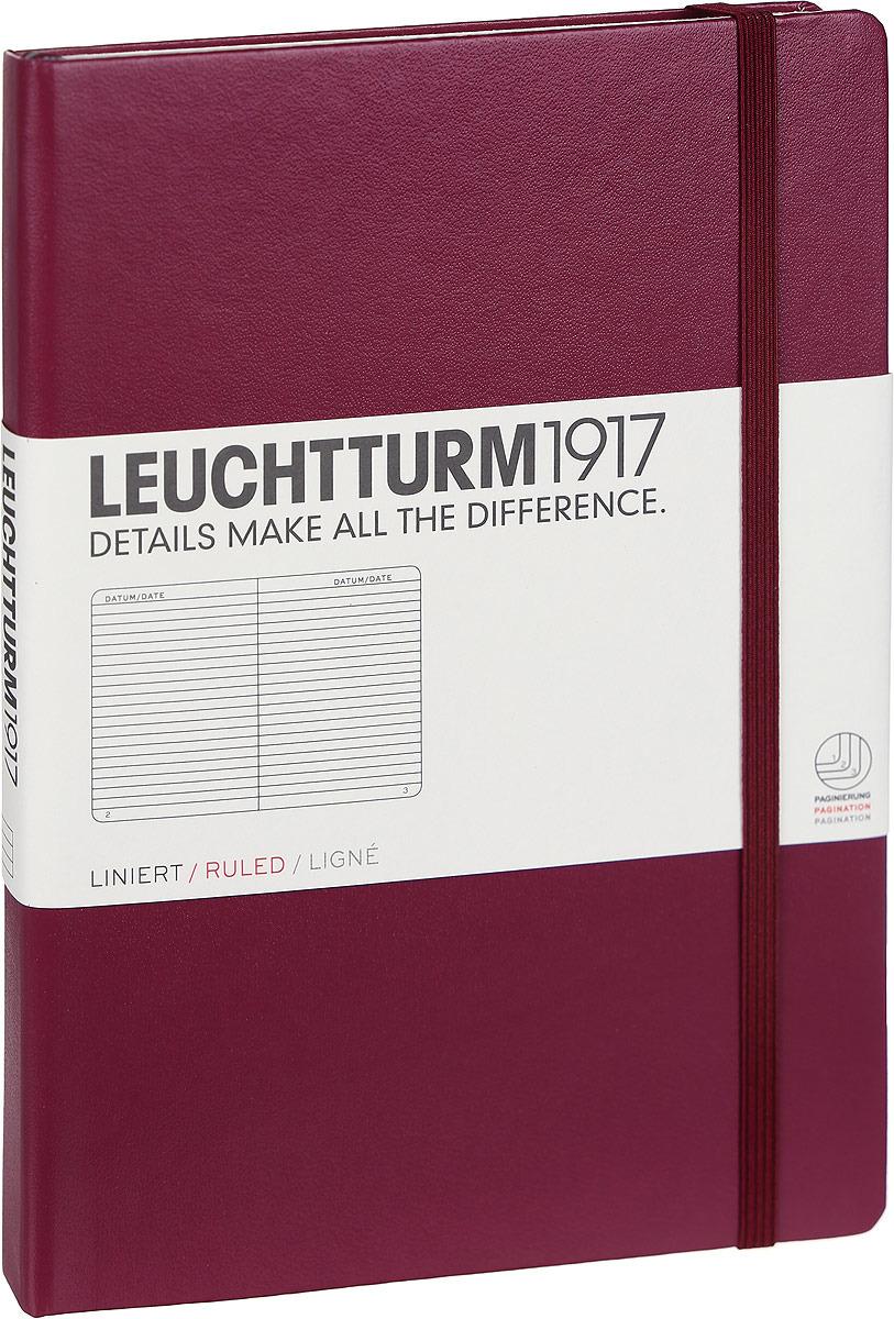 Записная книжка Leuchtturm1917, 359691, бордовый, A5 (148 x 210 мм), в линейку, 125 листов