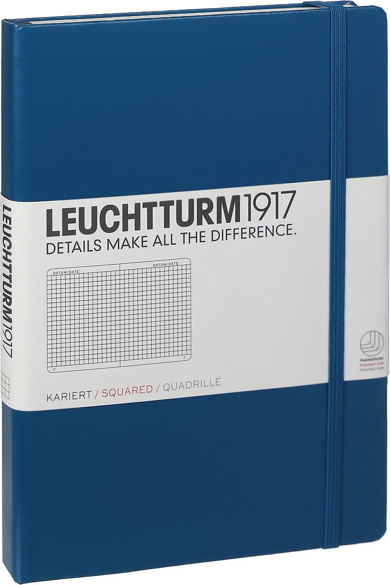 Записная книжка Leuchtturm1917, 359693, синий, A5 (148 x 210 мм), в клетку, 125 листов