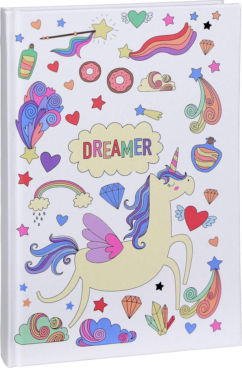 Ежедневник Kawaii Factory Dreamer, KW046-000099, A5, недатированный ежедневник на кнопке kawaii factory большой кот лес 112 страниц формат а6
