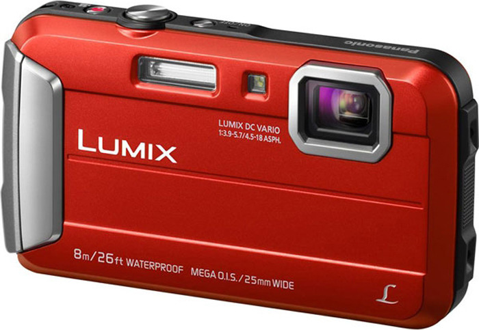 лучшая цена Компактный фотоаппарат Panasonic Lumix DMC-FT30, красный