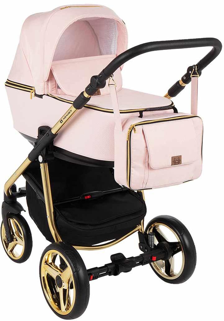 Коляска универсальная Adamex Reggio Special Edition 3 в 1, Y813, розовый