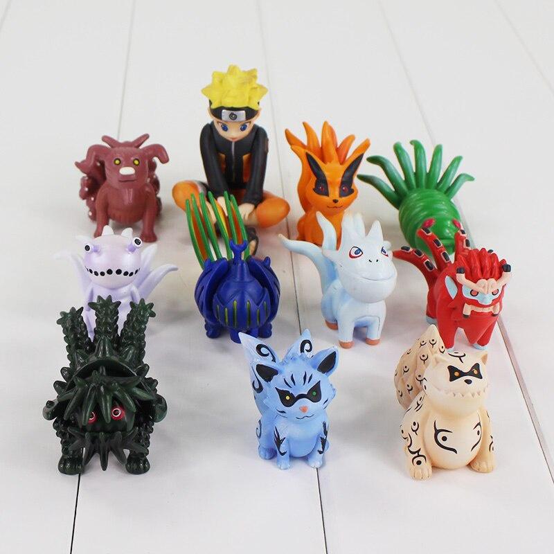 Фигурка Набор мини-фигурок Наруто и Хвостатые Звери (11 шт 4-7 см) набор шаров блестки 4 шт в картонной коробке 7 см 4 цв