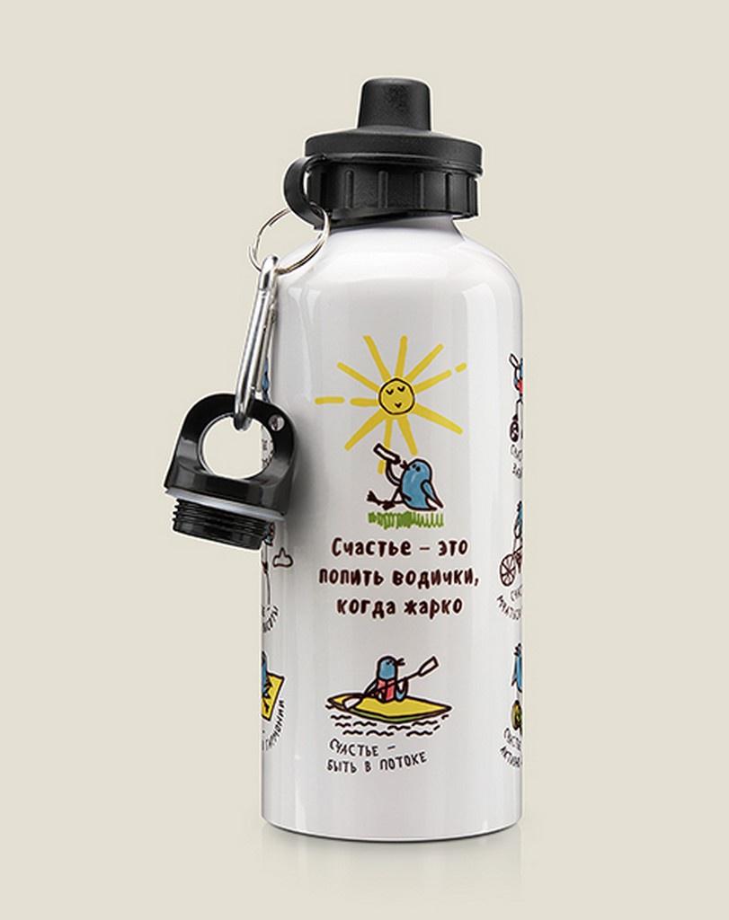 Бутылка для воды Бюро находок Счастье, разноцветный