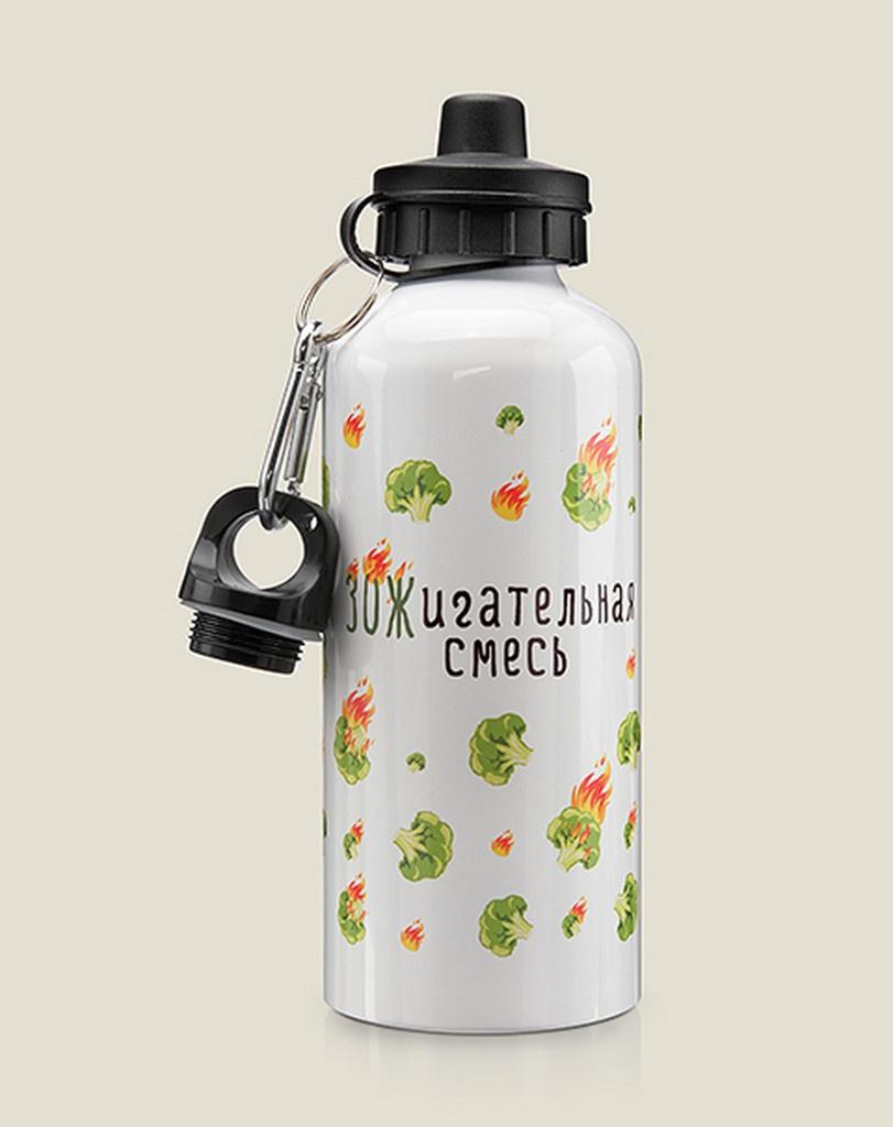 Бутылка для воды Бюро находок ЗОЖигательная смесь, разноцветный