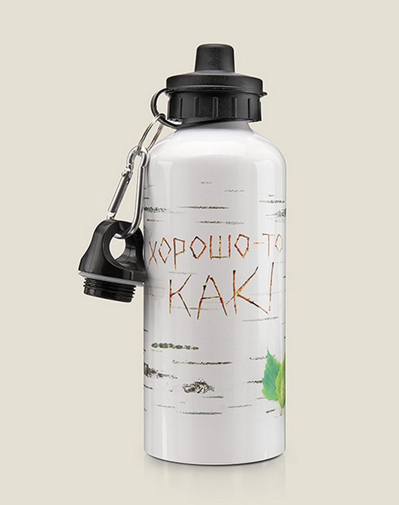Бутылка для воды Бюро находок Берёзка. Хорошо-то как!, разноцветный