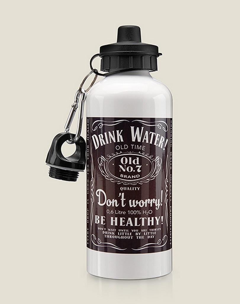 Бутылка для воды Бюро находок Виски Drink Water, разноцветный
