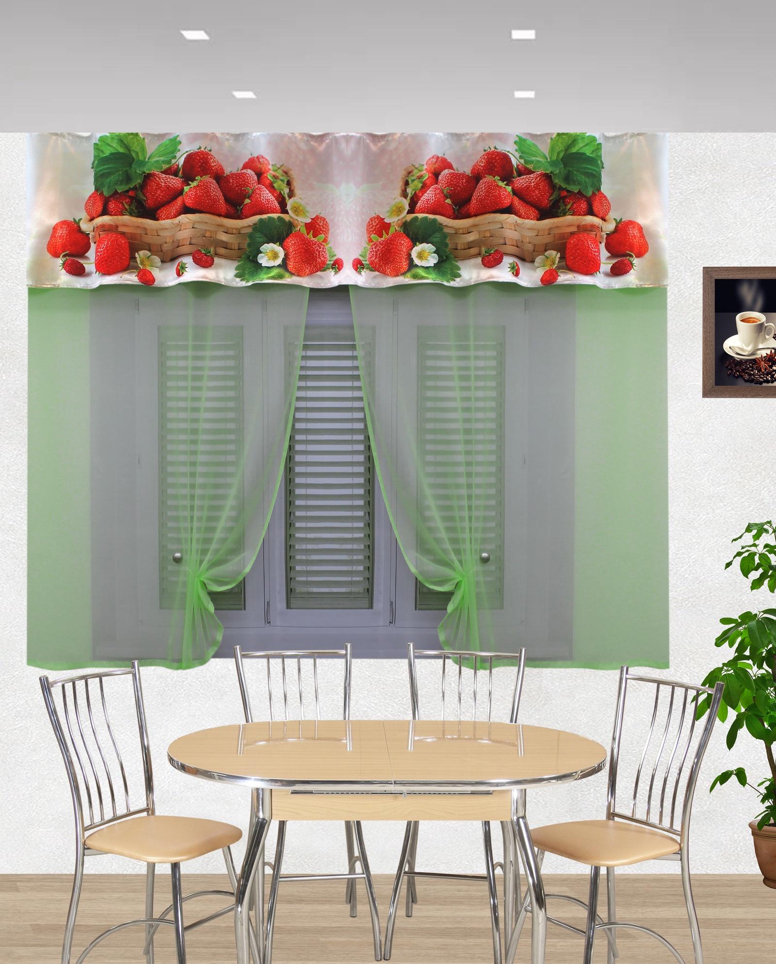 кухонный гарнитур клубника с фотопечатью итоге даже