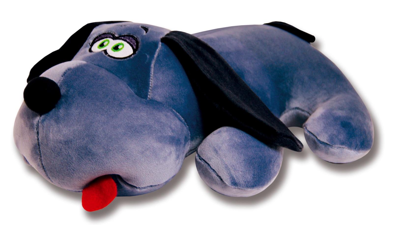Подушка-игрушка Штучки, к которым тянутся ручки антистрессовая Собака Джой, серый
