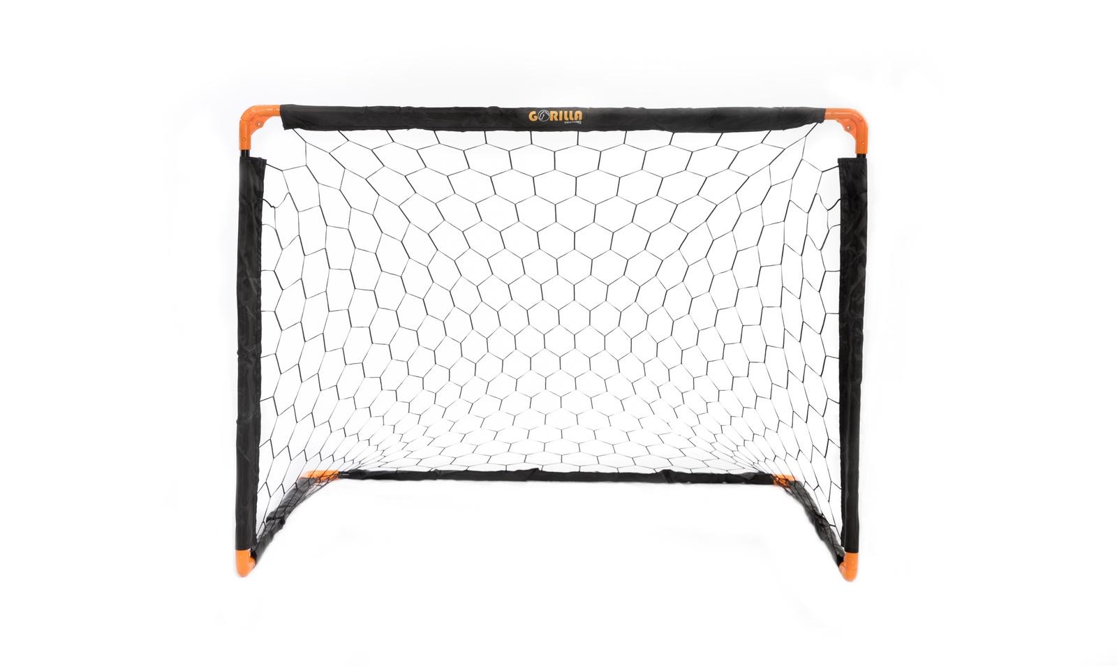 Футбольные ворота Gorilla Training 70321, черный, оранжевый складные футбольные ворота kage xl