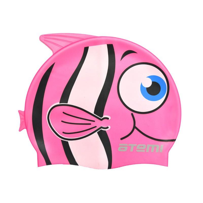 Шапочка для плавания Atemi FC104, розовый очки для плавания atemi детские s202 розовый