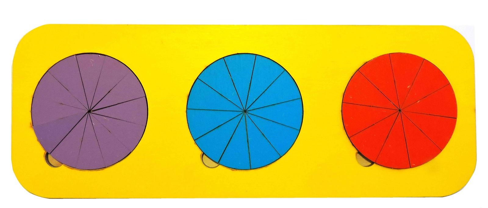 Обучающая игра Taowa Дроби 3 круга (вид 4) синий