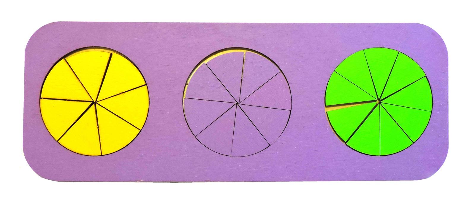 Обучающая игра Taowa Дроби 3 круга (вид 3) синий
