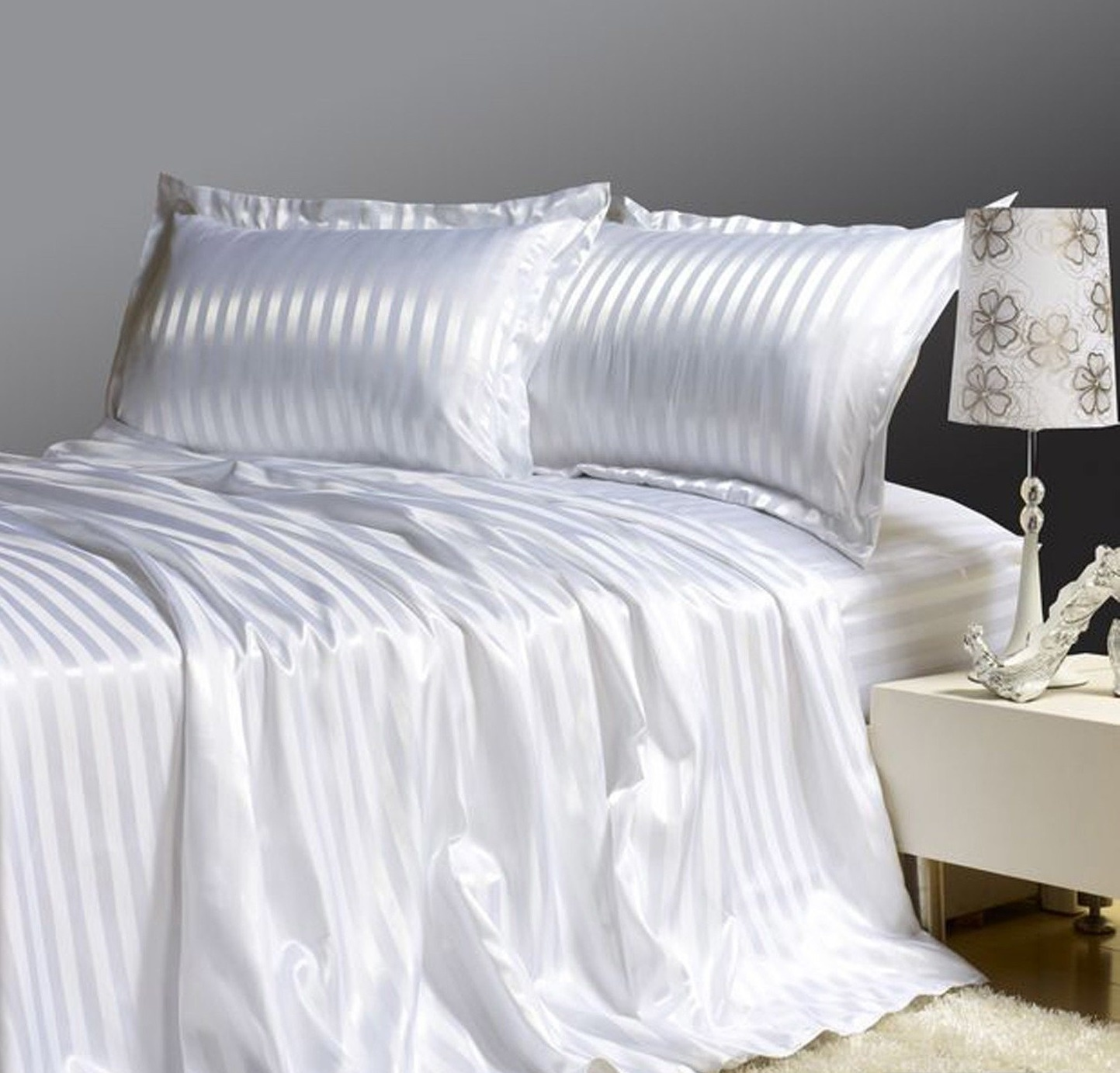 Комплект постельного белья Дом Текстиля SULYAN Совершенство, белый комплект постельного белья ситрейд ac053 e 4 евро наволочки 4 шт