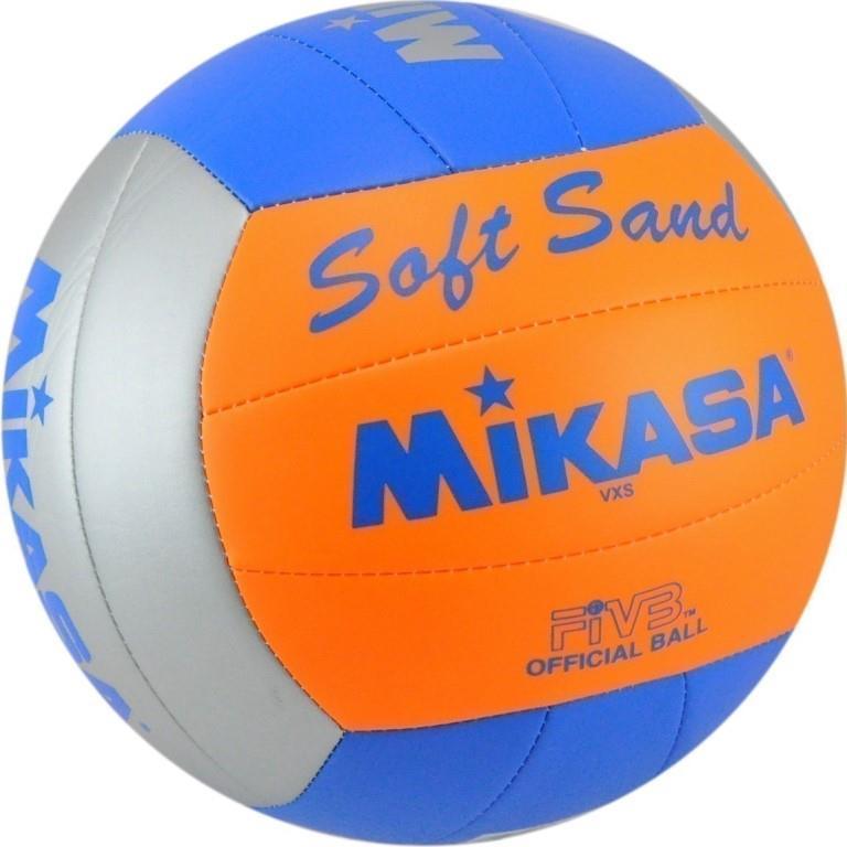 Мяч волейбольный Mikasa VXS-02, оранжевый, серебристый, синий мяч волейбольный mikasa mva300l облегченная реплика официального мяча fivb