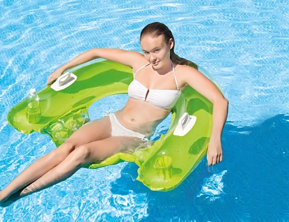Круг-кресло надувное для плавания с держателем рук 152*99см.INTEX 58859
