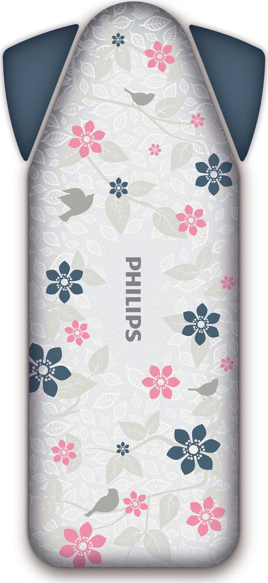 Чехол для гладильной доски Philips Easy8, GC022/05, белый, серый, розовый
