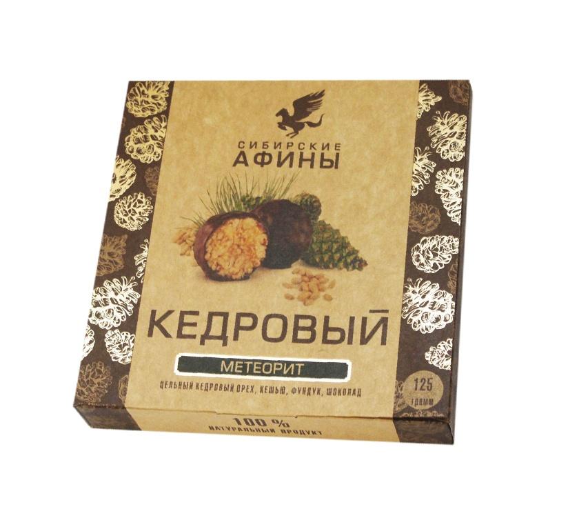 Конфеты Сибирские афины Кедровый Метеорит с сосновой шишкой, 125 гр. стоимость авиабилета москва афины