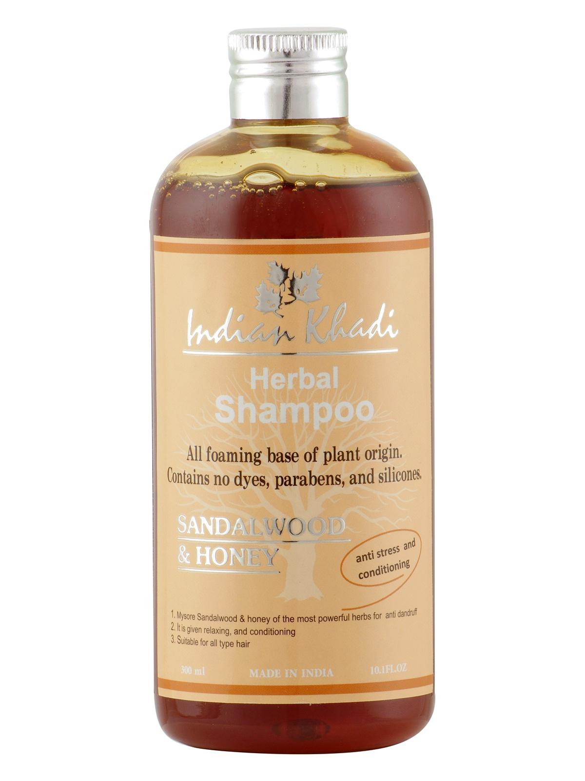 Шампунь для волос Indian Khadi Укрепляющий, с сандалом и медом , 300мл
