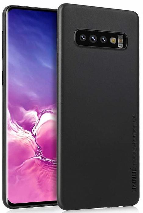 Чехол для сотового телефона Memumi super slim 0.3mm для Samsung Galaxy S10 Plus, черный