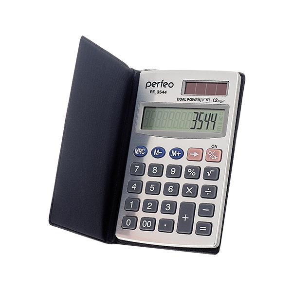 Фото - Карманный калькулятор Perfeo PF_3544, черный калькулятор карманный casio оранжевый