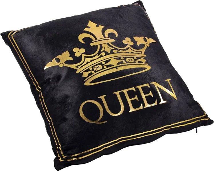 Наволочка декоративная Русские Подарки, 76312, черный, золотой, 45 х  см