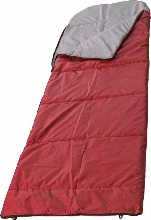 купить Спальный мешок Woodland Camping+ 250, 68058, правосторонняя молния, красный по цене 1512 рублей