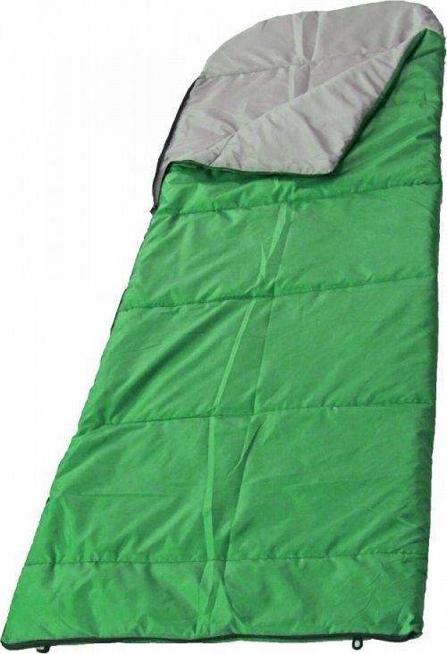 Спальный мешок Woodland Camping+ 250, 68060, правосторонняя молния, зеленый