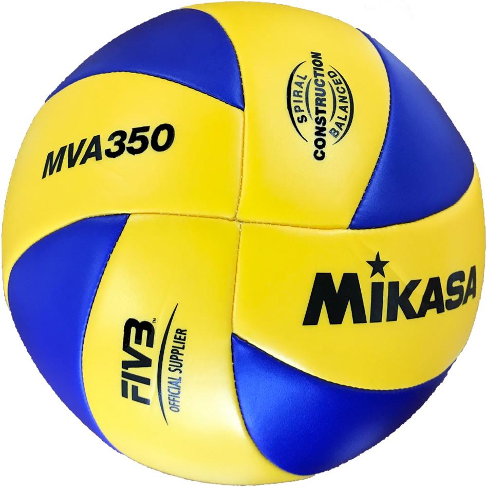 Мяч волейбольный Mikasa MVA350, желтый, синий мяч волейбольный mikasa mva380k размер 5 сине желтый