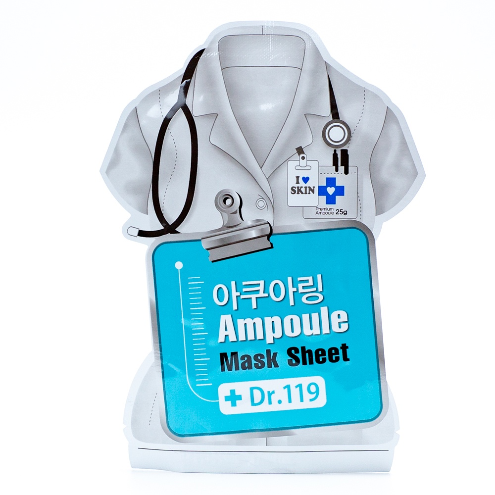 Dr. 119 Маска для лица увлажняющая Dr.119 Aquaring ampoule mask sheet estelare ampoule face mask маска ампульная для лица омоложение и упругость кожи 27 г