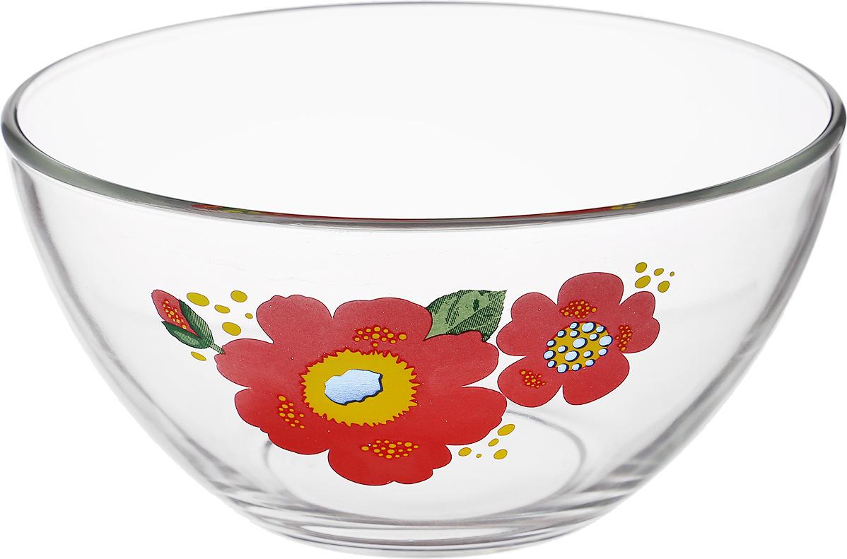 Салатник ОСЗ Яркие цветы, диаметр 15,8 см