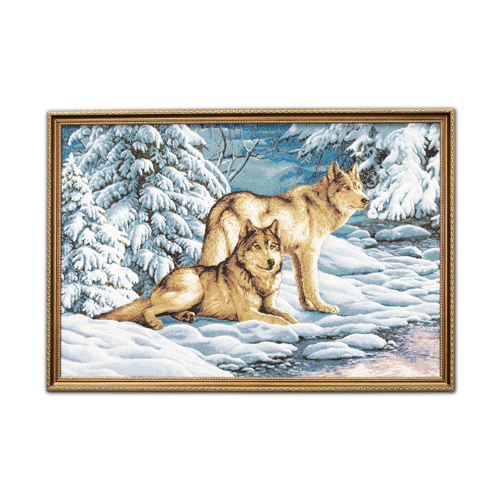 цена Картина Магазин гобеленов серые волки 52*75 см, Гобелен онлайн в 2017 году