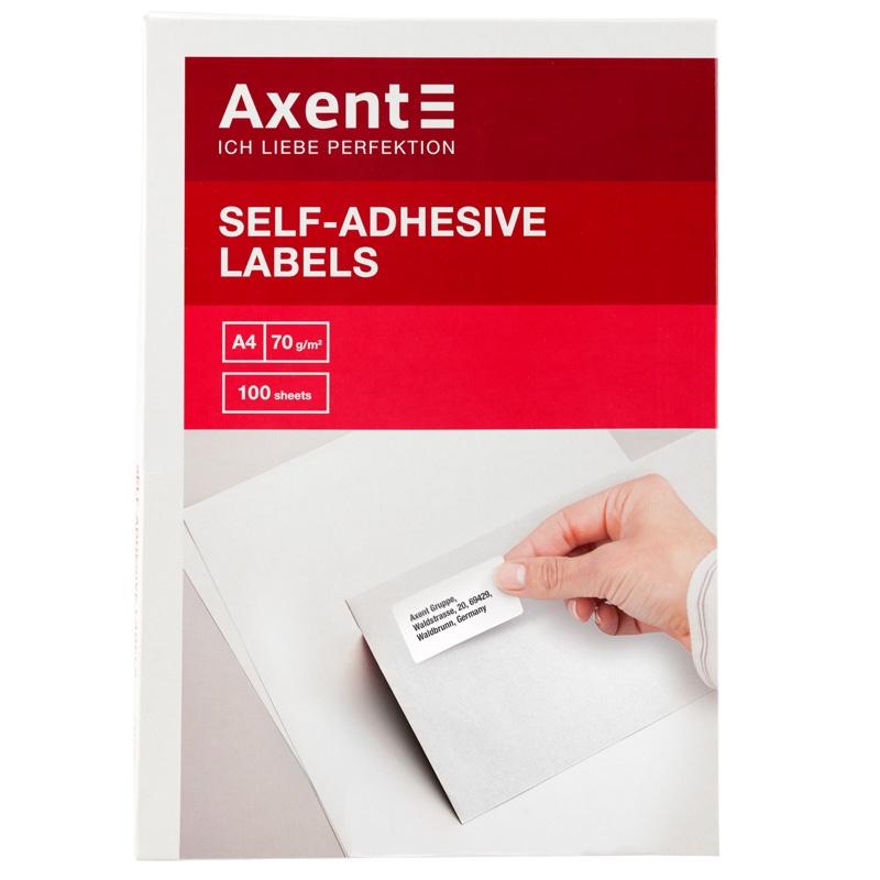 Этикетка Axent 2464-A Этикетки с клейким слоем, 70*42,4, 21шт/л