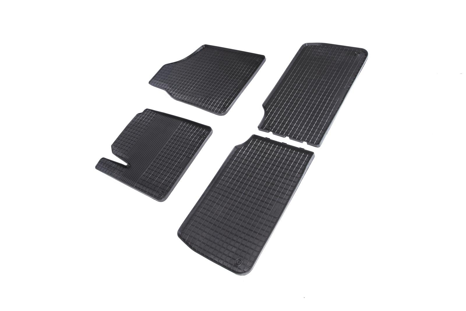 Коврики в салон автомобиля Seintex Резиновые коврики Сетка для Audi Allroad 2006-2011 для автомобиля резинотканевые коврики