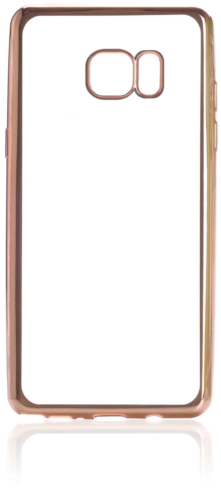 Чехол для сотового телефона iNeez накладка силикон с рамкой gold для Samsung Galaxy Note 7, прозрачный