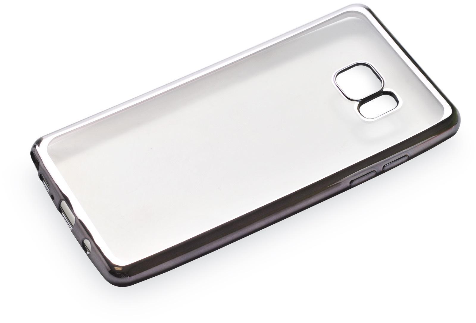 Чехол для сотового телефона iNeez накладка силикон с рамкой grey для Samsung Galaxy Note 7, прозрачный