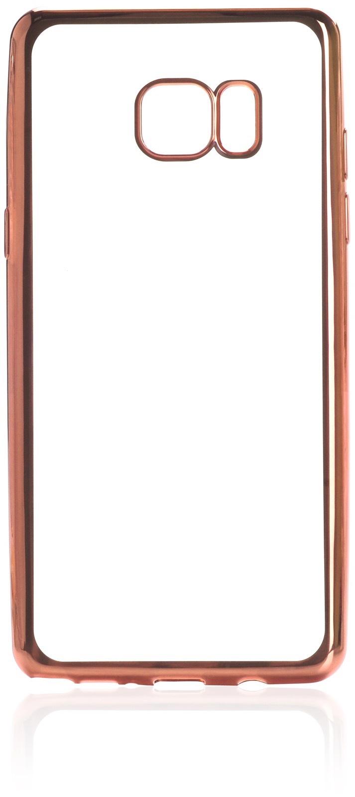 Чехол для сотового телефона iNeez накладка силикон с рамкой rose для Samsung Galaxy Note 7, прозрачный