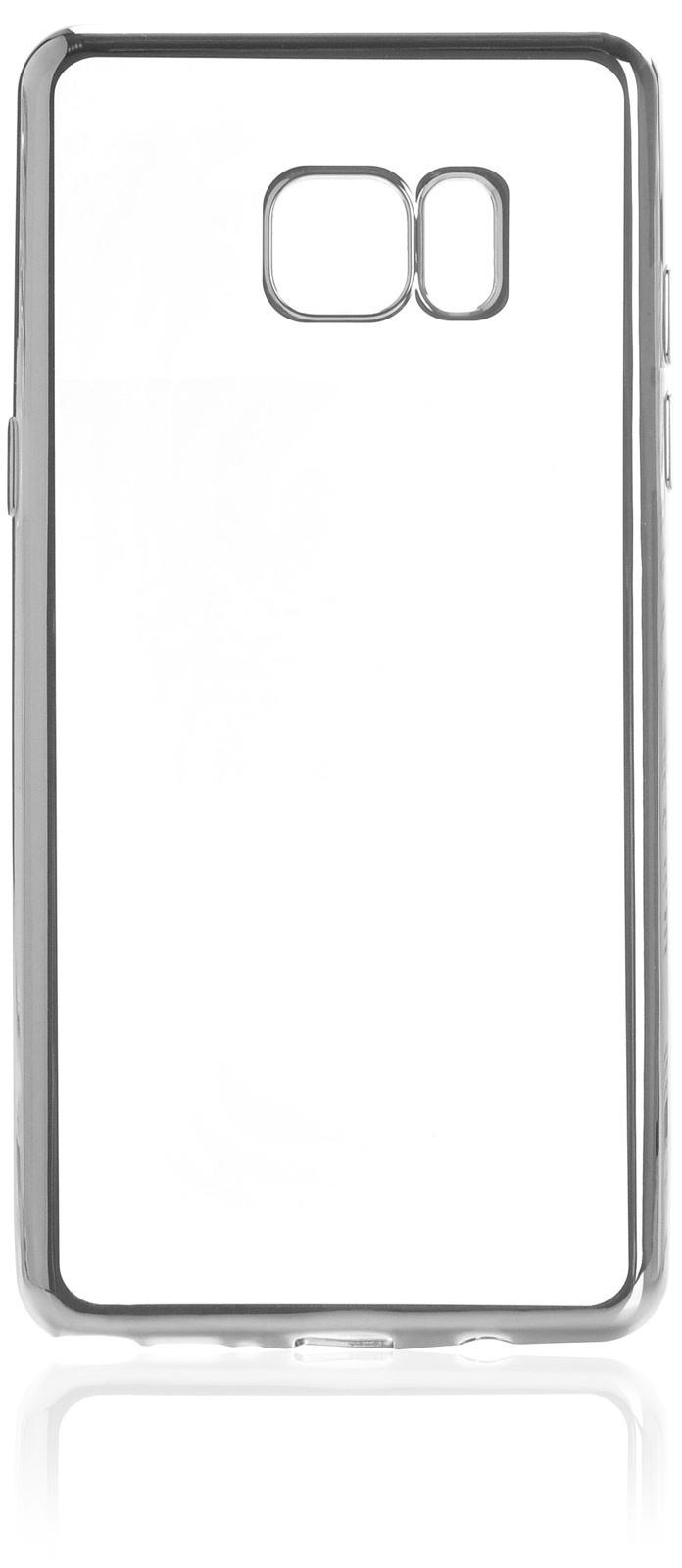 Чехол для сотового телефона iNeez накладка силикон с рамкой silver для Samsung Galaxy Note 7, прозрачный