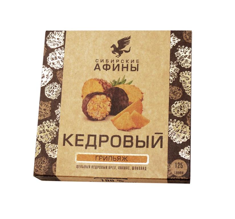 Конфеты Сибирские афины Кедровый Метеорит с ананасом, 125 гр. стоимость авиабилета москва афины