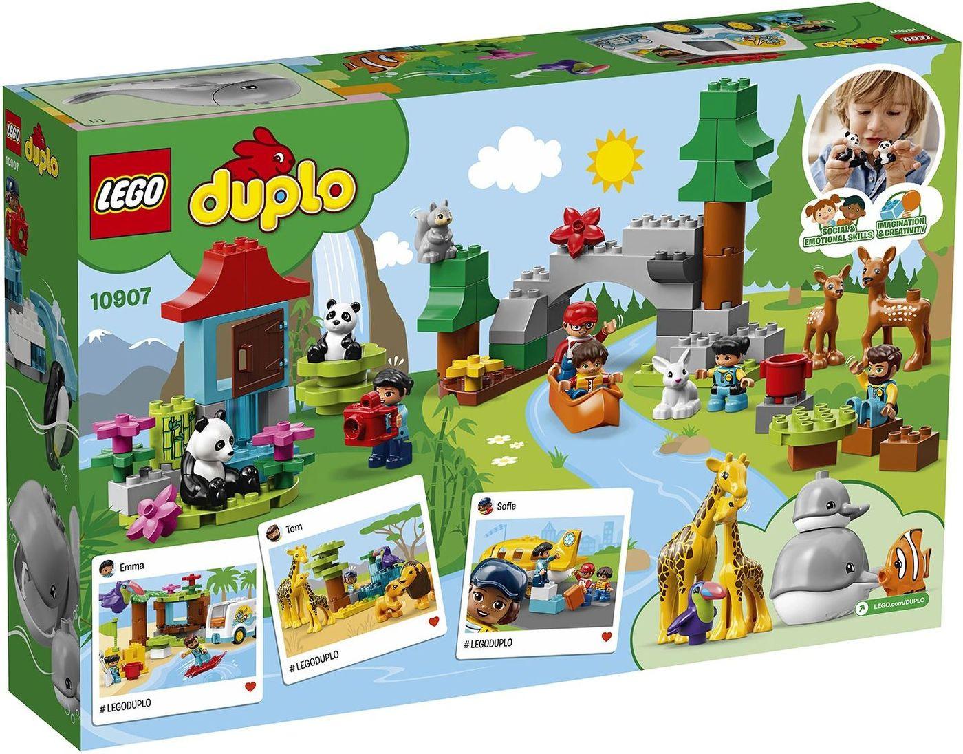 LEGO DUPLO Town 10907 Животные мира Конструктор