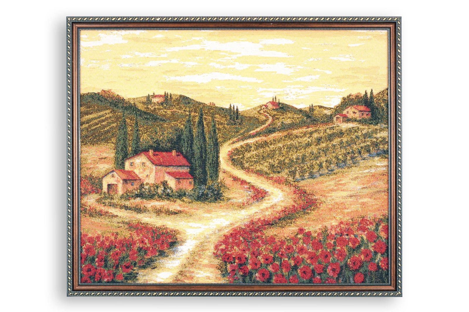 Картина Магазин гобеленов поле маков 57*68 см, Гобелен тетрадь для нот моне поле маков