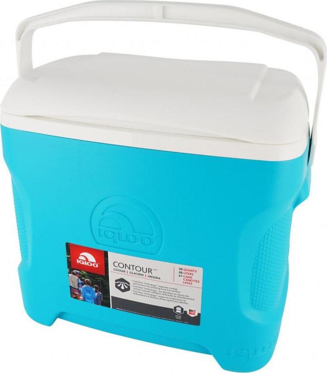 Изотермический контейнер Igloo Contour, 00049832, голубой, 47 х 34 х 43 см igloo изотермический контейнер igloo playmate pal jucetwh