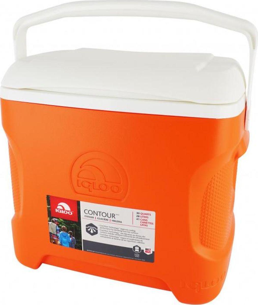 Изотермический контейнер Igloo Contour, 00049106, оранжевый, 47 х 34 х 43 см igloo изотермический контейнер igloo playmate pal jucetwh