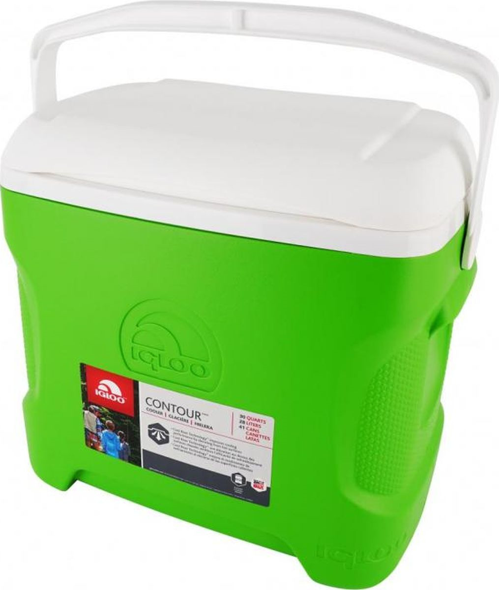 Изотермический контейнер Igloo Contour, 00049794, зеленый, 47 х 34 х 43 см igloo изотермический контейнер igloo playmate pal jucetwh