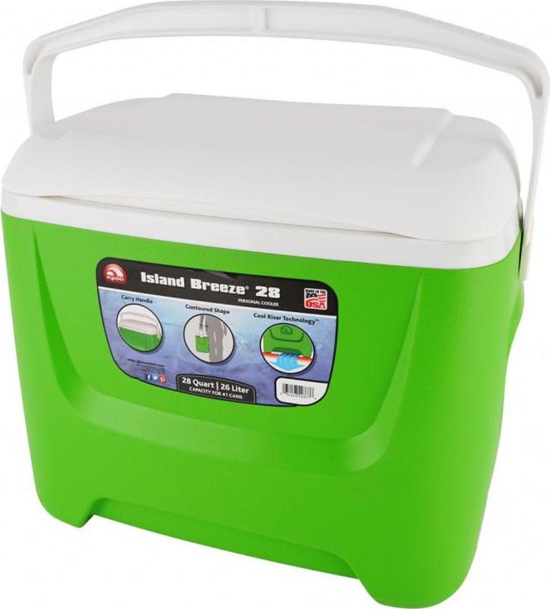 Изотермический контейнер Igloo Island Breeze, 00049377, зеленый, 46 х 32 х 39 см